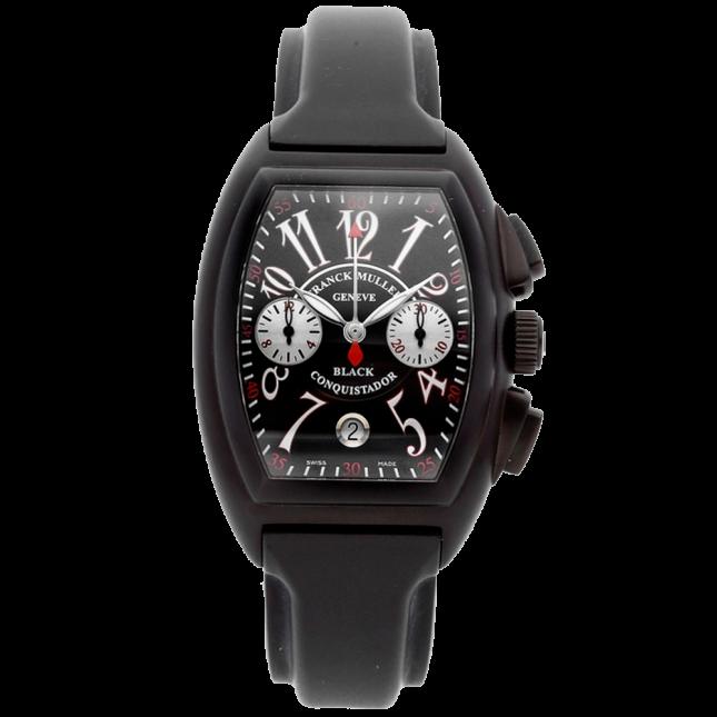 Franck Muller conquistador chronograph date 8005 k cc nr