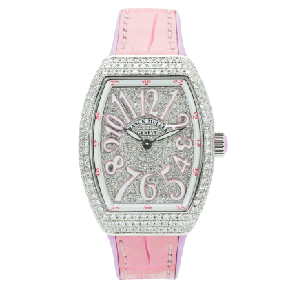 Franck Muller V32 Steel Custom Full Diamonds