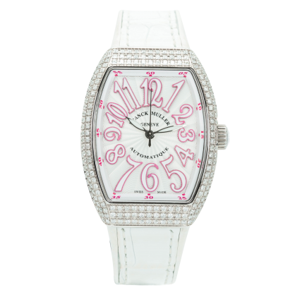 Franck Muller V32 Steel Pave Custom Diamonds