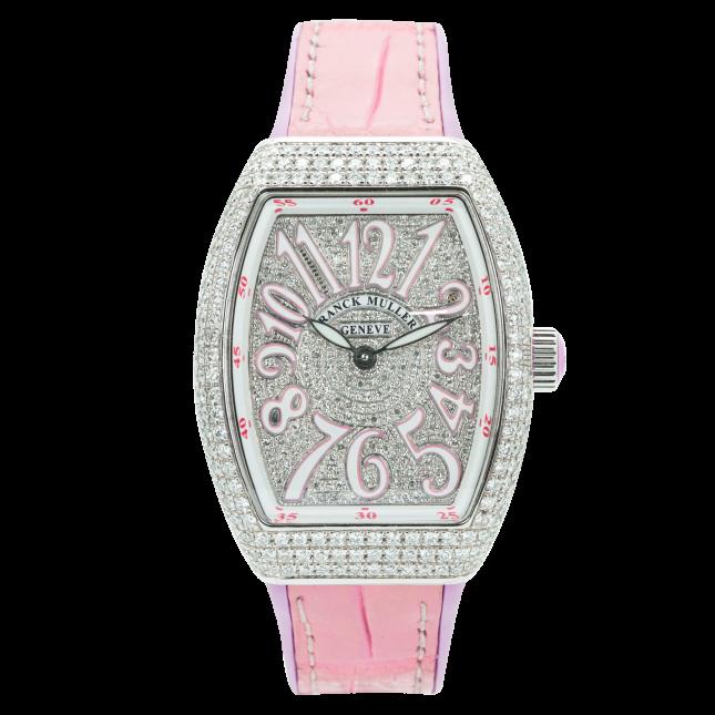 Franck Muller V32 Steel Custom Full Diamonds