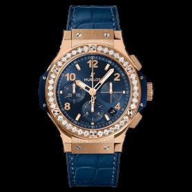 Hublot Big Bang Gold Blue Diamonds 41mm