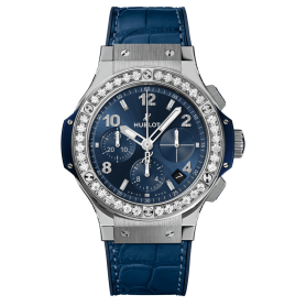 Hublot Big Bang Steel Blue Diamonds 41mm