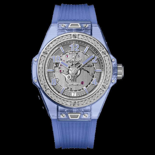 Hublot Big Bang One Click Blue Sapphire Diamonds 39mm