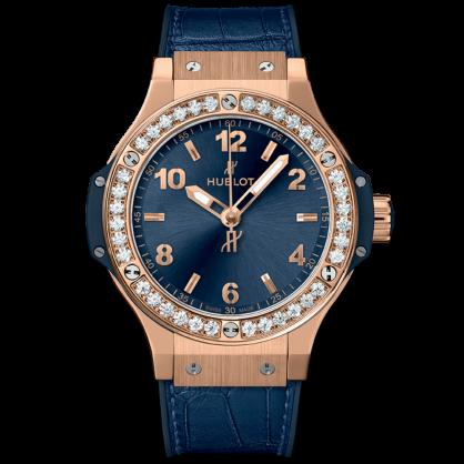 Hublot big bang king gold blue diamonds 38mm