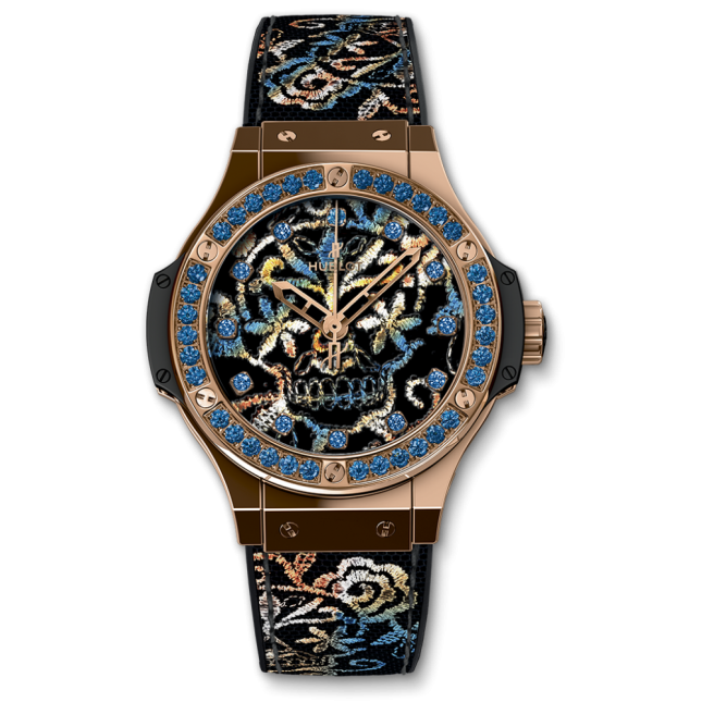 Hublot Big Bang Broderie Sugar Skull Gold 41mm