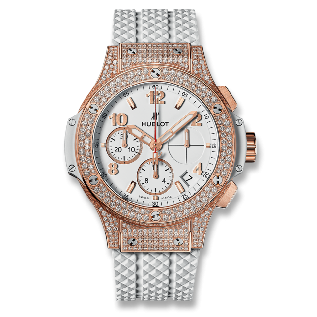 Hublot Big Bang Chronograph King Gold Opalin Diamonds 41mm