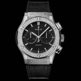 Hublot Classic Fusion Chronograph Titanium Diamonds 45mm