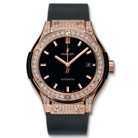 Hublot Classic Fusion King Gold Pave 33mm