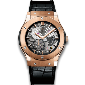 Hublot Classic Fusion Ultra-Thin Skeleton King Gold 42mm