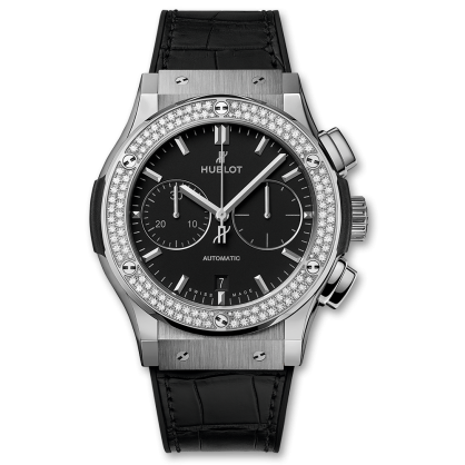 Hublot Classic Fusion Chronograph Titanium Diamonds 45mm