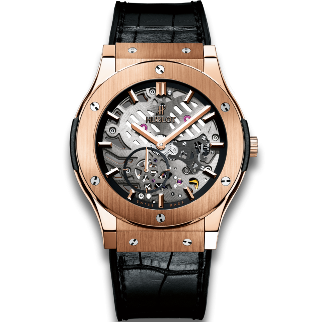 Hublot Classic Fusion Ultra-thin Skeleton King Gold 45mm