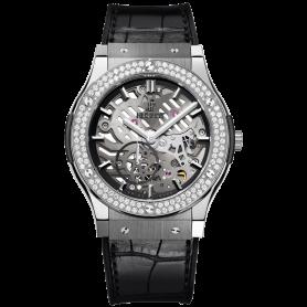 Hublot Classic Fusion Classico Ultra-thin Skeleton Titanium Diamonds 45mm