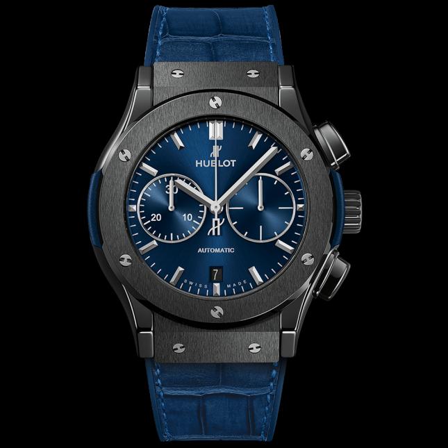 Hublot classic fusion ceramic blue chronograph 45 mm