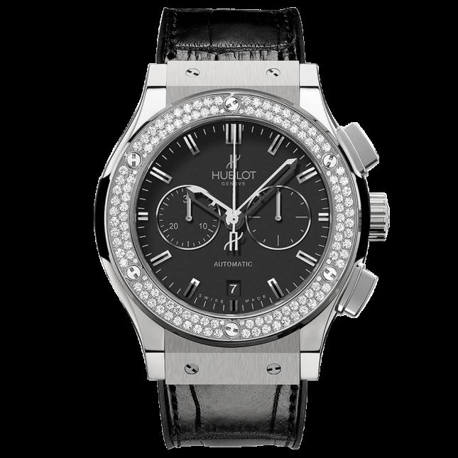Hublot Classic Fusion Chronograph Titanium Diamonds 42mm