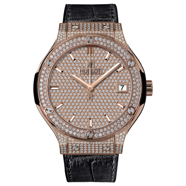 Hublot Classic Fusion King Gold Full Pavé 38mm