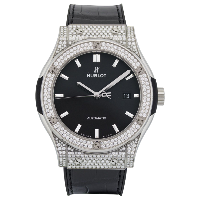 Hublot Classic Fusion Titanium Pave Diamonds 42mm
