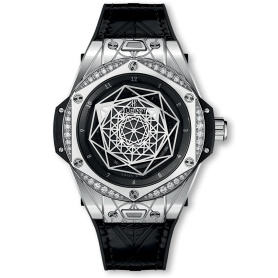 Big Bang Sang Bleu Steel Diamonds 39mm