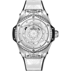 Hublot big bang one click sang bleu steel white diamonds 39mm