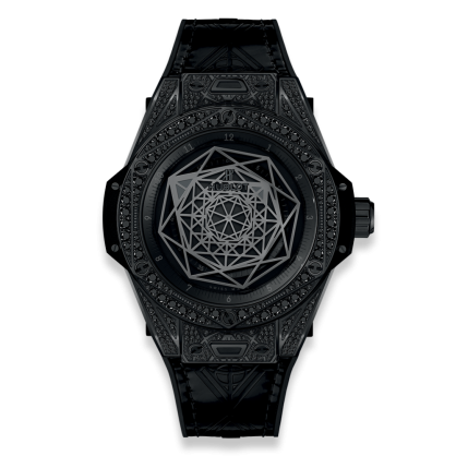 Hublot Big Bang Bleu All Black Pave 39mm