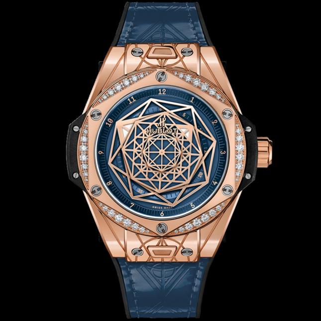 Hublot big bang one click sang bleu king gold blue diamonds 39mm