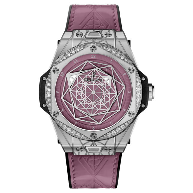 Hublot Big Bang One Click Sang Bleu Steel Pink Diamonds 39mm