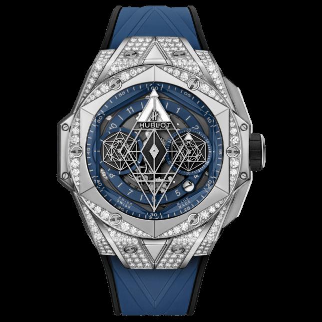 Hublot Big Bang Sang Bleu II Titanium Blue Pave 45mm