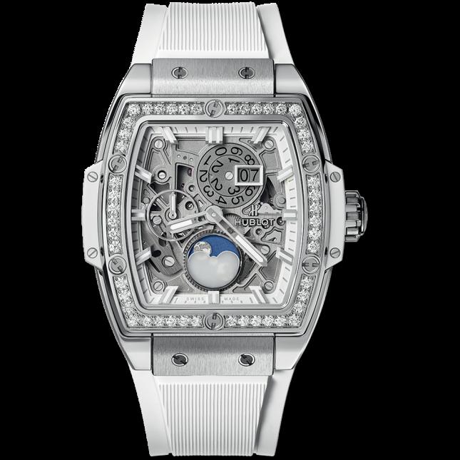 Hublot spirit of big bang moonphase titanium white diamonds 42mm