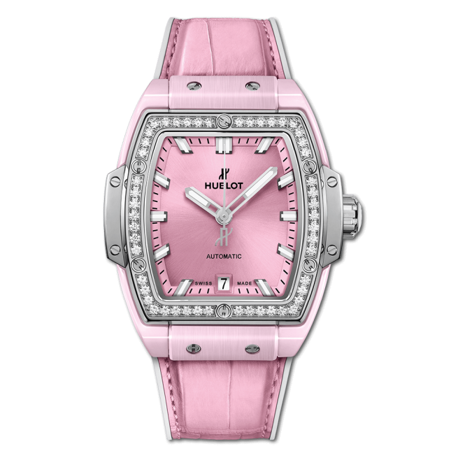 Hublot Spirit Of Big Bang Pink Ceramic Titanium Diamonds 39mm