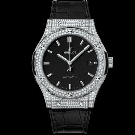Hublot Classic Fusion Titanium Pave Diamonds