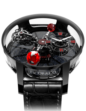 Jacob & Co ASTRONOMIA TOURBILLON BLACK CERAMIC BLACK & RED MOVEMENT