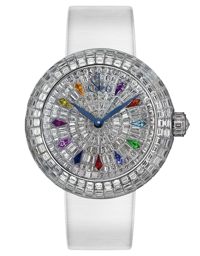 Jacob & Co Brilliant Automatic Baguette Diamonds & Kite Sapphires