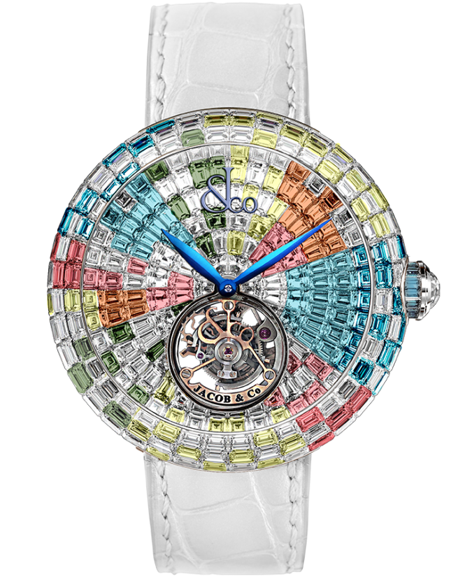 Jacob & Co Brilliant Flying Tourbillon Arlequino Pastel
