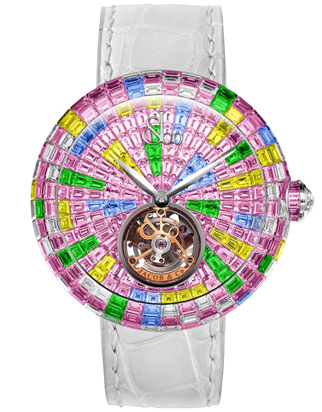 Jacob & Co Brilliant Flying Tourbillon Multicolor Pink
