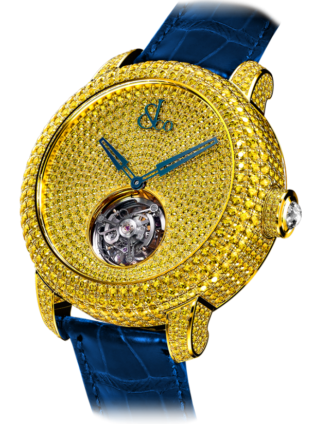 Jacob & Co Caviar Tourbillon Pave Yellow Diamonds