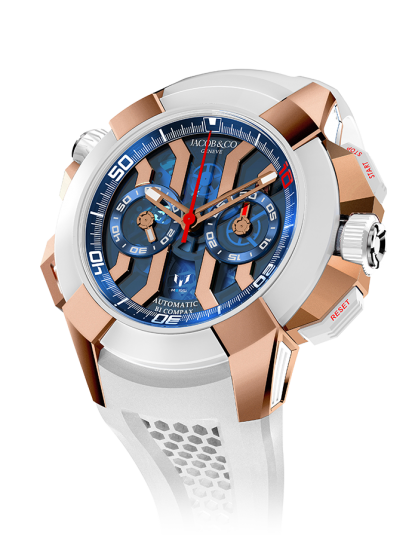 Jacob & Co Epic X Chrono Messi Titanium - Rose Gold