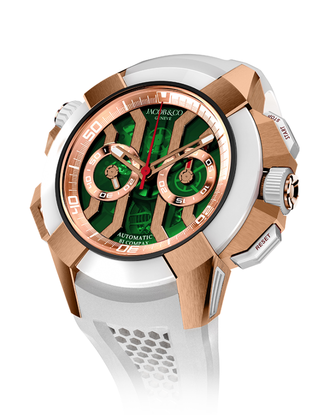 Jacob & Co Epic X Chrono Rose Gold Green Dial