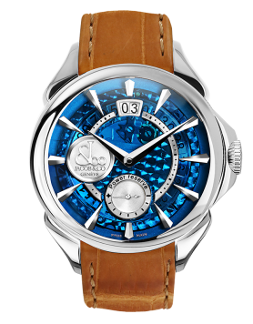 Jacob & Co PALATIAL CLASSIC MANUAL BIG DATE MINERAL CRYSTAL DIAL - STEEL CASE