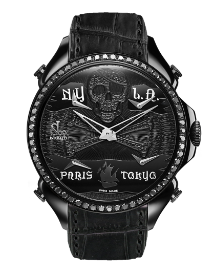 Jacob & Co PALATIAL FIVE TIME ZONE PIRATE BLACK PVD