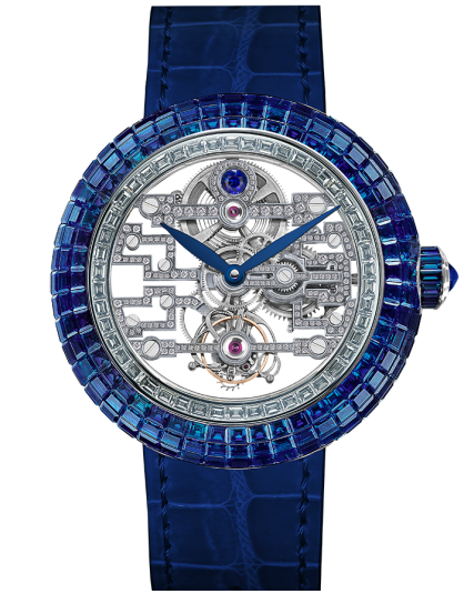 Jacob & Co Brilliant Art Deco Blue Sapphire