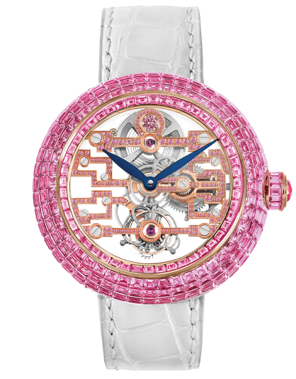 Jacob & Co Brilliant Art Deco Pink Sapphire