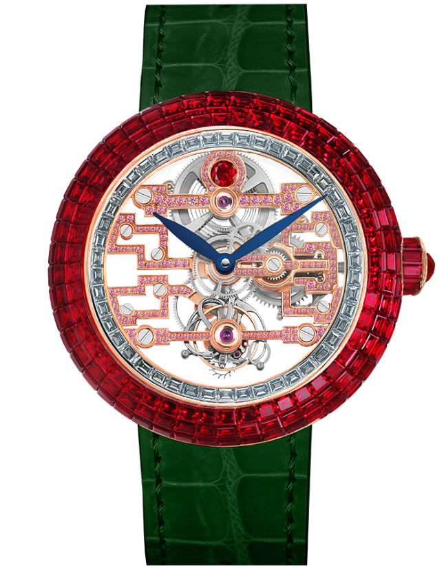 Jacob & Co Brilliant Art Deco Ruby