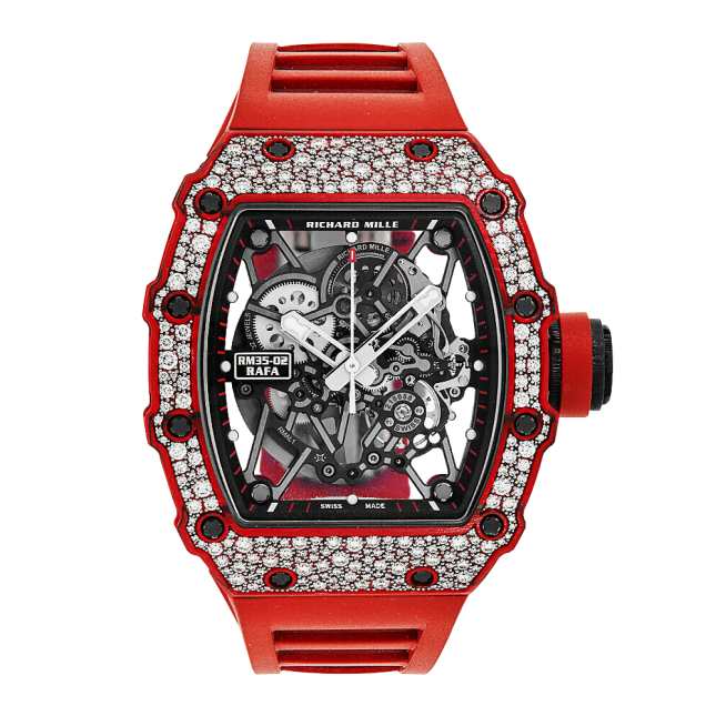 Richard Mille RM 35-02 Rafael Nadal Diamond Red Quartz TPT