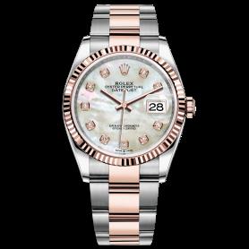 Rolex Datejust 36 126231 Mặt Số Vỏ Trai Trắng Dây Đeo Oyster