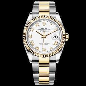 Rolex Datejust 36 126233 Mặt Số Trắng Cọc Số La Mã Dây Đeo Oyster
