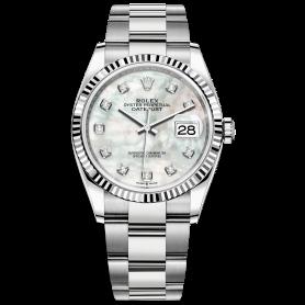 Rolex Datejust 36 126234 Mặt Số Vỏ Trai Trắng Dây Đeo Oyster