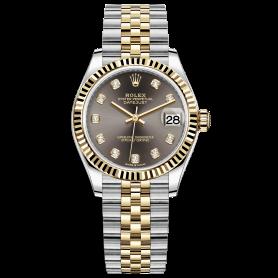 Rolex Lady Datejust 31 278273 Mặt Số Xám Nạm Kim Cương