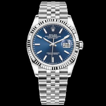 Rolex datejust 126234 Mặt Xanh Cọc Số Phản Quang