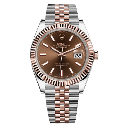 Rolex Datejust 41 126331 Chocolate Cọc Dạ Quang