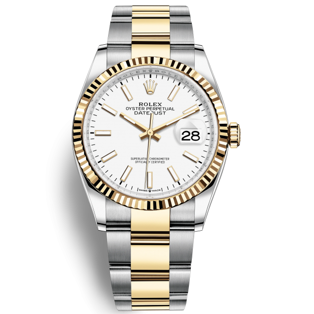 Rolex Datejust 36 126233 Mặt Số Trắng Dây Đeo Oyster