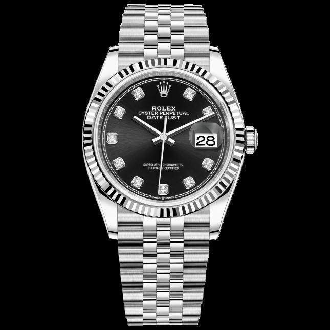 Rolex Datejust 36 126234 Mặt Số Đen Nạm Kim Cương